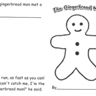 Gingerbread Man Emergent Reader