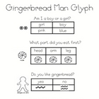 Gingerbread Man Glyph and Graph with Follow Up Sheets and Pieces