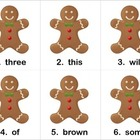 Gingerbread Man Hunt for Sight Words