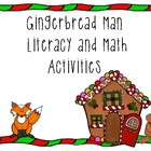 Gingerbread Man Pre-K and Kindergarten Math and Literacy A