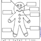 Gingerbread Man Writers Workshop Labeling Activity