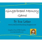 Gingerbread Memory Game