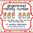 Gingerbread Missing Number {Freebie}