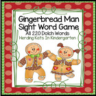 Gingerbread Sight Word Game (Dolch Word Lists 1-11)