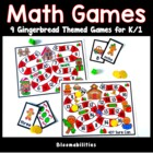 Gingerbread Themed Math Games