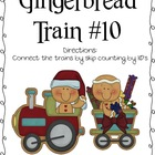 Gingerbread Train #10 Math Center- Skip Counting by 10's