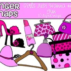 Girls Just Wanna Have Fun Clip Art Set