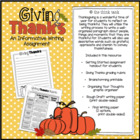 Giving Thanks: Writing a Descriptive Paragraph using the W