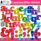 Glitter Alphabet Letters (Lowercase & Punctuation) Clipart