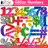 Glittery Math Numbers Clipart - For Smartboard Activities,