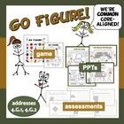 Go Figure! 2-D geometry game, ppt, and printables set