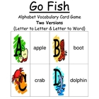 Go Fish Alphabet Games - Big Letter to Little Letter & Let