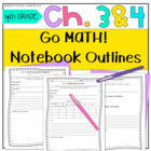 Go Math! 4th Grade Notebook CC and I Can Statements Chapter 3 & 4