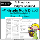 Worksheets Morning Work SET 4-CC- 4th Grade Go Math! Chapt
