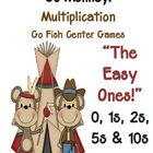 Multiplication Go Fish Center Game - Go Monkey - The Easy