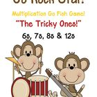 Go Rock Star! Multiplication Go Fish Game ~ The Tricky One