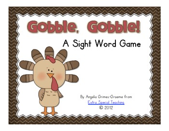 Gobble, Gobble! - A 1st Grade Sight Word Game