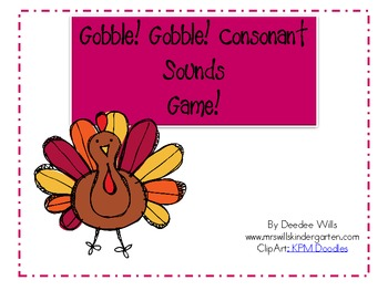 Gobble, Gobble Initial Sounds Game!