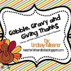 Gobble, Gravy and Giving Thanks - Math and Literacy Centers