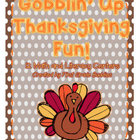 Gobblin' Up Thanksgiving Fun! {a Thanksgiving mini activity pack}