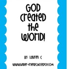 God Created the World! Student made book on Creation