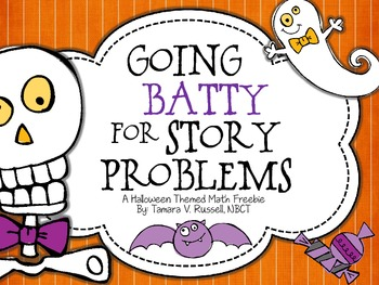 Going 'Batty' for Story Problems {Freebie}