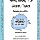 """Going Fishing"" Monthly Journal Topics"