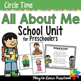 Going to School -  Centers and Circle Time Preschool Unit