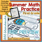 Going to the Beach Summer Math Practice Preview