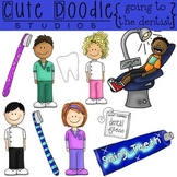 Going to the Dentist {COMBO} Digital Clip Art and Black Li