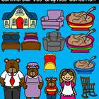 Goldilocks and the Three Bears Clip Art Collection-Color/B