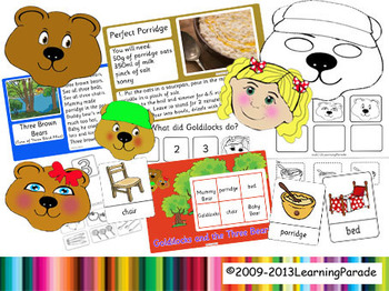 Goldilocks and the Three Bears Story Unit