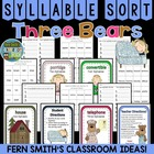 Goldilocks and the Three Bears Syllable Sort Center Game f