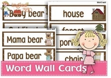 Goldilocks and the three bears word wall cards