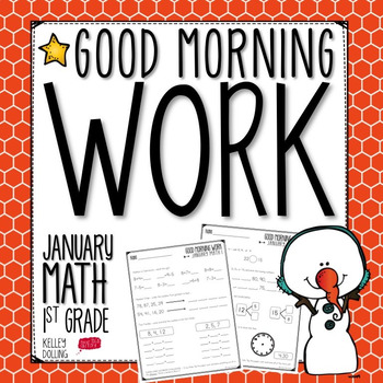Good Morning Work - Math - January (1st Grade)