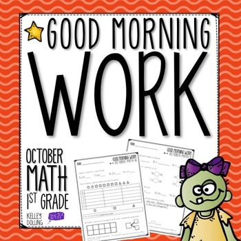 Good Morning Work - Math - October (1st Grade)