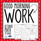 Good Morning Work - Math - October (2nd Grade)