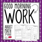 Good Morning Work - Math - August (2nd Grade)