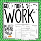 Good Morning Work - Reading - December (2nd Grade)