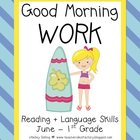 Good Morning Work - Reading - June (1st Grade)