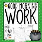 Good Morning Work - Reading - March (1st Grade)