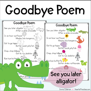 Goodbye Rhyming Poem