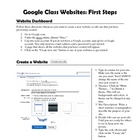 Google Class Websites: First Steps