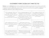 Government Terms Tic Tac Toe Project