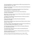 GOV/Poli Sci Independent Reading List -- 45 current titles!