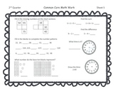 Gr 1 Common Core Math Skills Sheets FREEBIE for second nine weeks