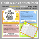 Grab & Go Stories Pack Word Processing Activity for Grades 3-6
