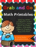 Grab and Go Math Printables - Numbers 1-20