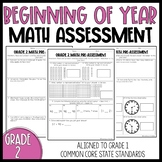 Grade 2: Beginning of Year Math Pre Assessment