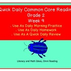 Grade 2 Daily Common Core Reading Practice Week 9 {LMI}